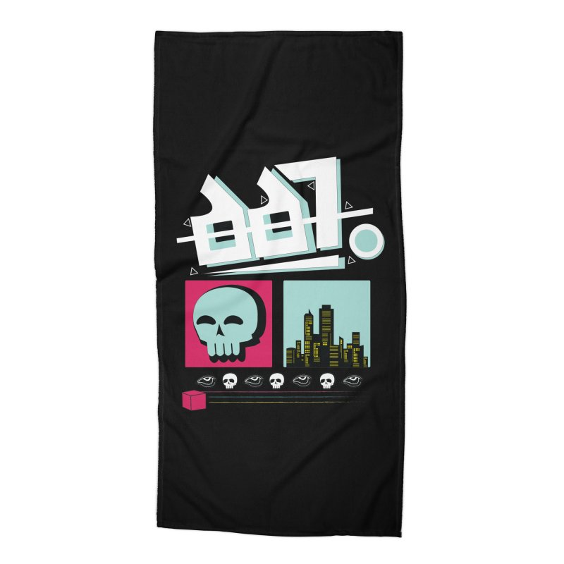 Spooky Art Accessories Beach Towel by Viable Psyche