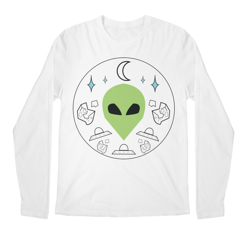 Asteroid Ayy Lmao Men's Regular Longsleeve T-Shirt by Viable Psyche