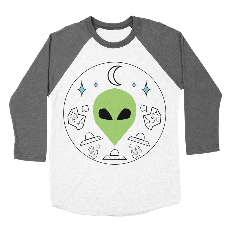 Asteroid Ayy Lmao Men's Baseball Triblend Longsleeve T-Shirt by Viable Psyche