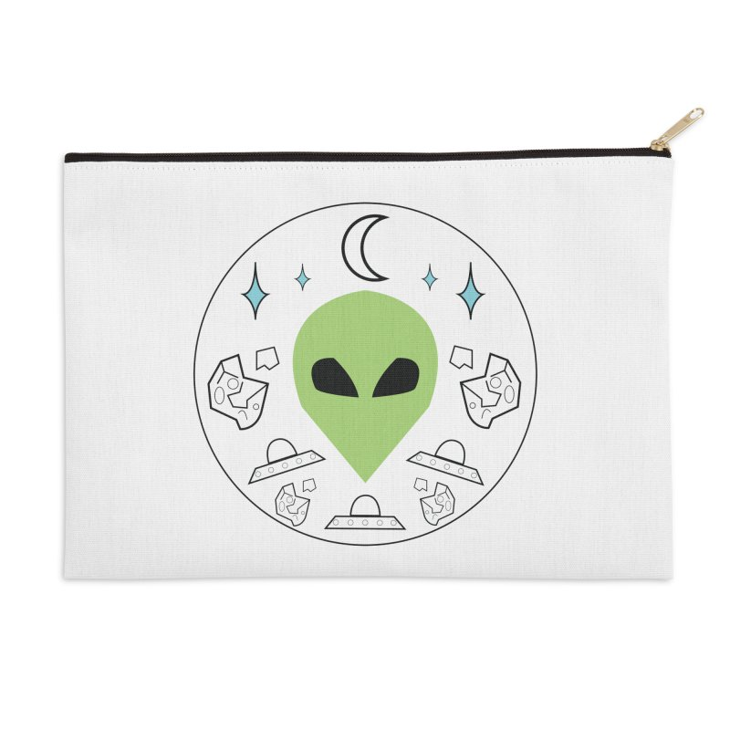 Asteroid Ayy Lmao Accessories Zip Pouch by Viable Psyche