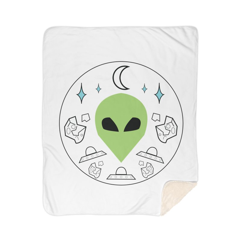 Asteroid Ayy Lmao Home Sherpa Blanket Blanket by Viable Psyche