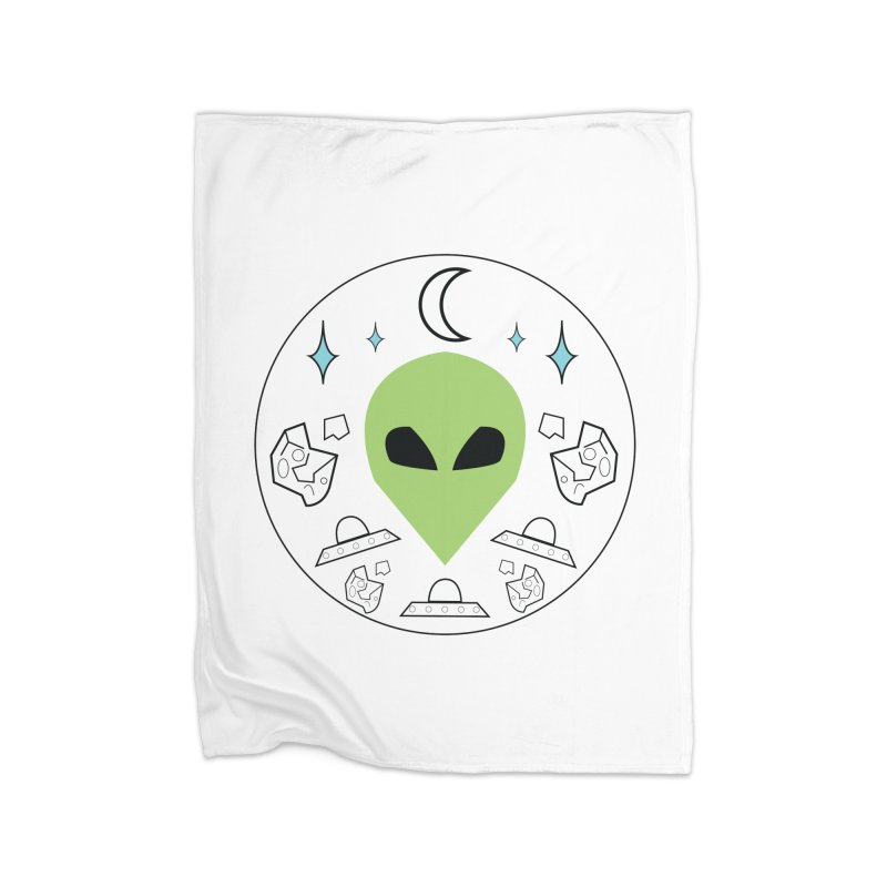 Asteroid Ayy Lmao Home Fleece Blanket Blanket by Viable Psyche