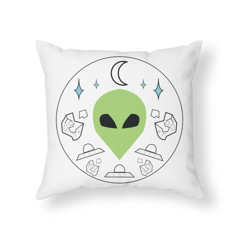 Asteroid Ayy Lmao Home Throw Pillow by Viable Psyche