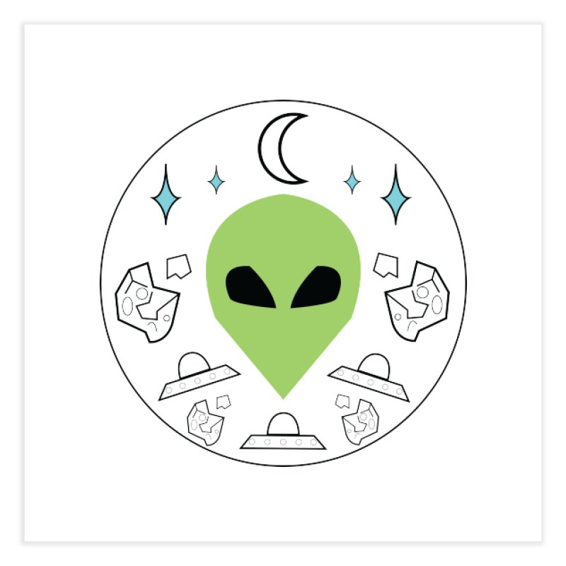 Asteroid Ayy Lmao Home Fine Art Print by Viable Psyche