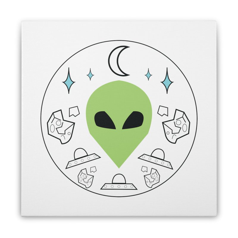 Asteroid Ayy Lmao Home Stretched Canvas by Viable Psyche