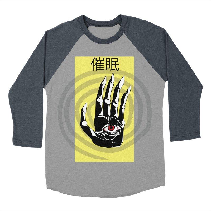 Hamsa Hypnosis Men's Baseball Triblend Longsleeve T-Shirt by Viable Psyche