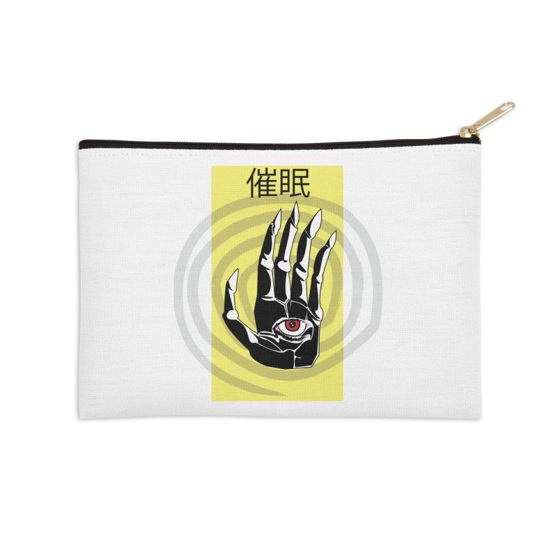 Hamsa Hypnosis Accessories Zip Pouch by Viable Psyche