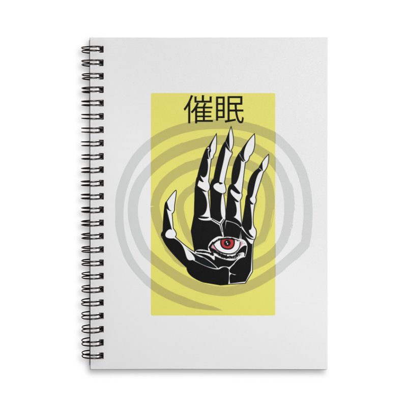 Hamsa Hypnosis Accessories Lined Spiral Notebook by Viable Psyche