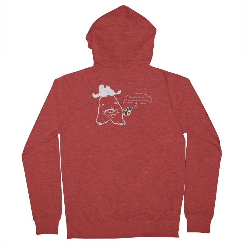 Howdee pArtner Men's French Terry Zip-Up Hoody by Viable Psyche