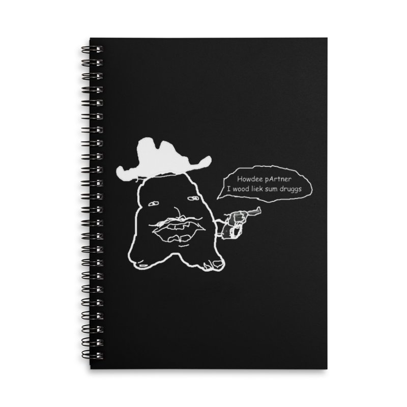 Howdee pArtner Accessories Lined Spiral Notebook by Viable Psyche