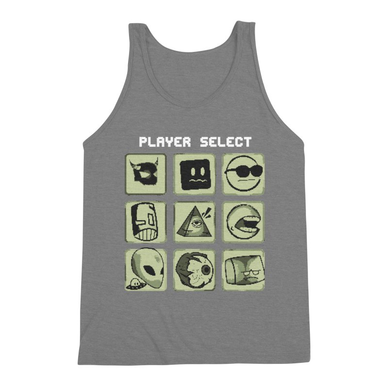 Player Select (Gameboy Edition) Men's Triblend Tank by Viable Psyche