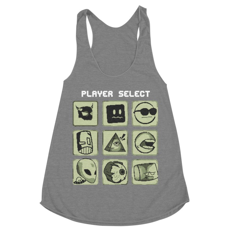 Player Select (Gameboy Edition) Women's Racerback Triblend Tank by Viable Psyche