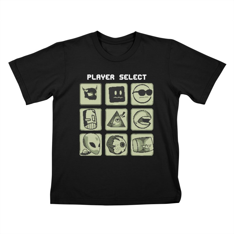 Player Select (Gameboy Edition) Kids T-Shirt by Viable Psyche