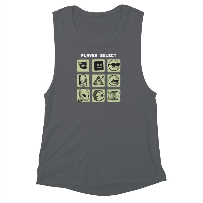 Player Select (Gameboy Edition) Women's Muscle Tank by Viable Psyche