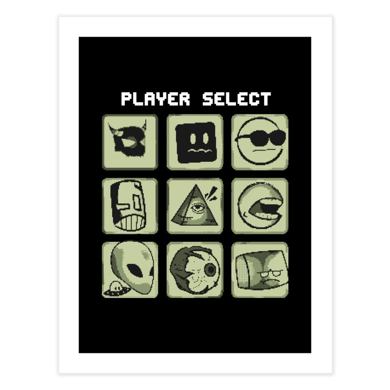 Player Select (Gameboy Edition) Home Fine Art Print by Viable Psyche