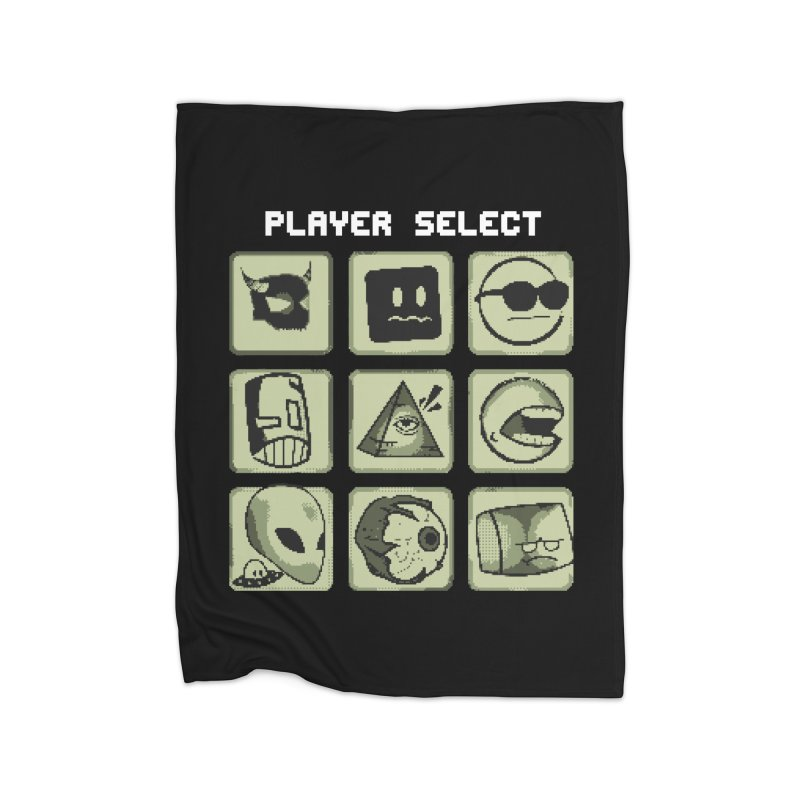 Player Select (Gameboy Edition) Home Fleece Blanket Blanket by Viable Psyche