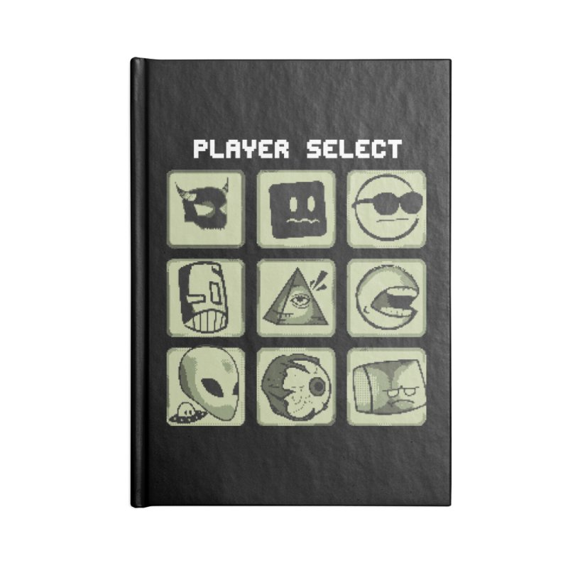 Player Select (Gameboy Edition) Accessories Lined Journal Notebook by Viable Psyche