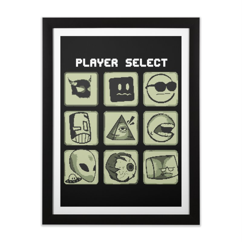 Player Select (Gameboy Edition) Home Framed Fine Art Print by Viable Psyche