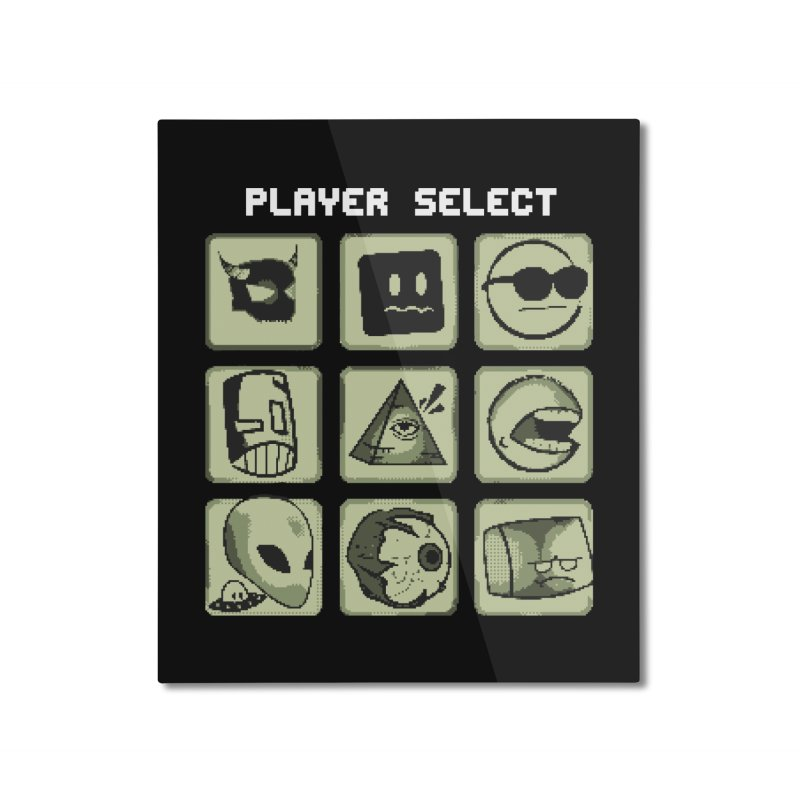 Player Select (Gameboy Edition) Home Mounted Aluminum Print by Viable Psyche