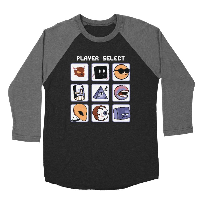 Player Select (Gameboy Color Edition) Men's Baseball Triblend Longsleeve T-Shirt by Viable Psyche