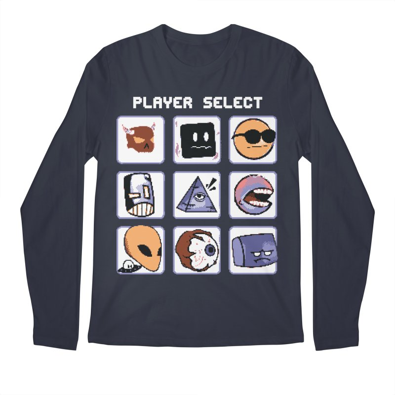 Player Select (Gameboy Color Edition) Men's Regular Longsleeve T-Shirt by Viable Psyche
