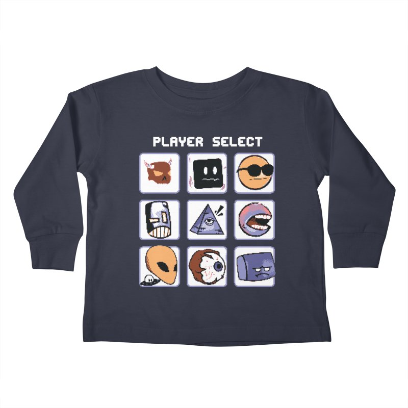 Player Select (Gameboy Color Edition) Kids Toddler Longsleeve T-Shirt by Viable Psyche