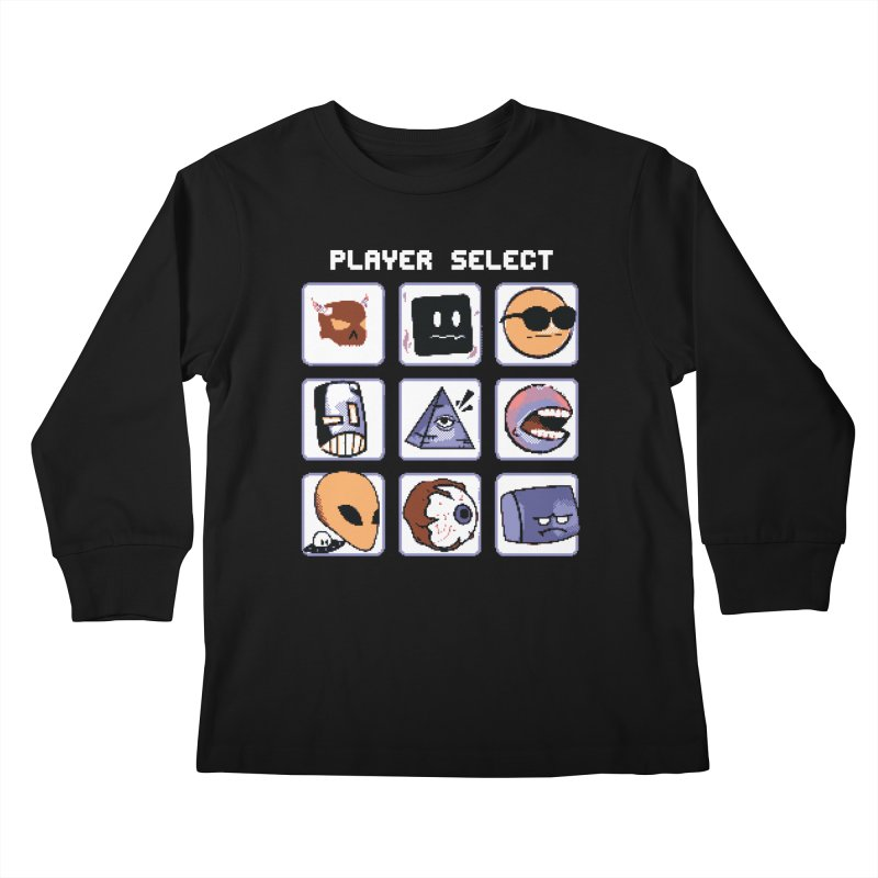 Player Select (Gameboy Color Edition) Kids Longsleeve T-Shirt by Viable Psyche