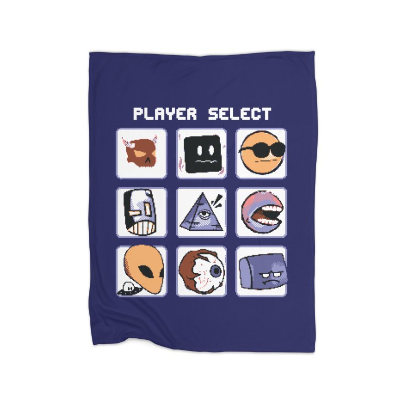 Player Select (Gameboy Color Edition) Home Fleece Blanket Blanket by Viable Psyche