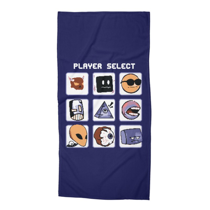 Player Select (Gameboy Color Edition) Accessories Beach Towel by Viable Psyche