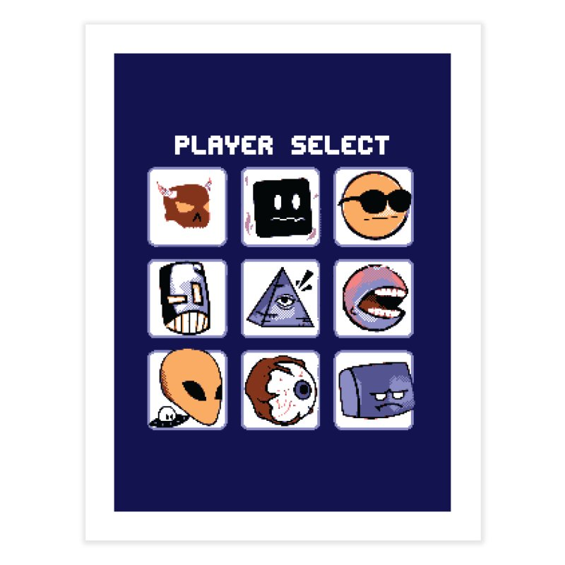 Player Select (Gameboy Color Edition) Home Fine Art Print by Viable Psyche