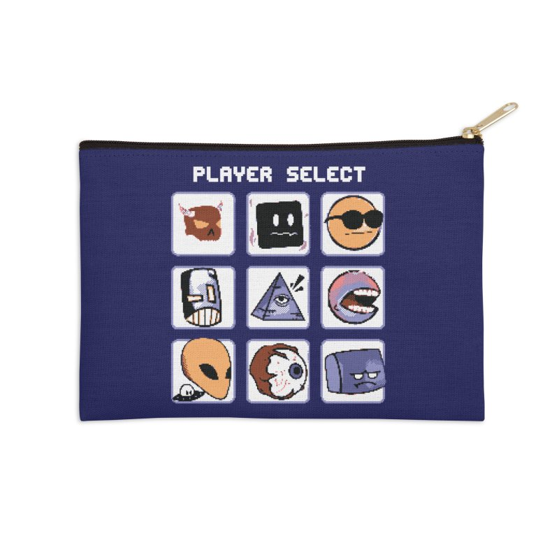 Player Select (Gameboy Color Edition) Accessories Zip Pouch by Viable Psyche