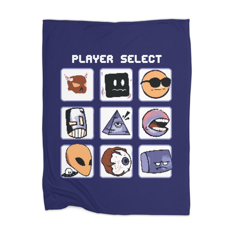 Player Select (Gameboy Color Edition) Home Blanket by Viable Psyche