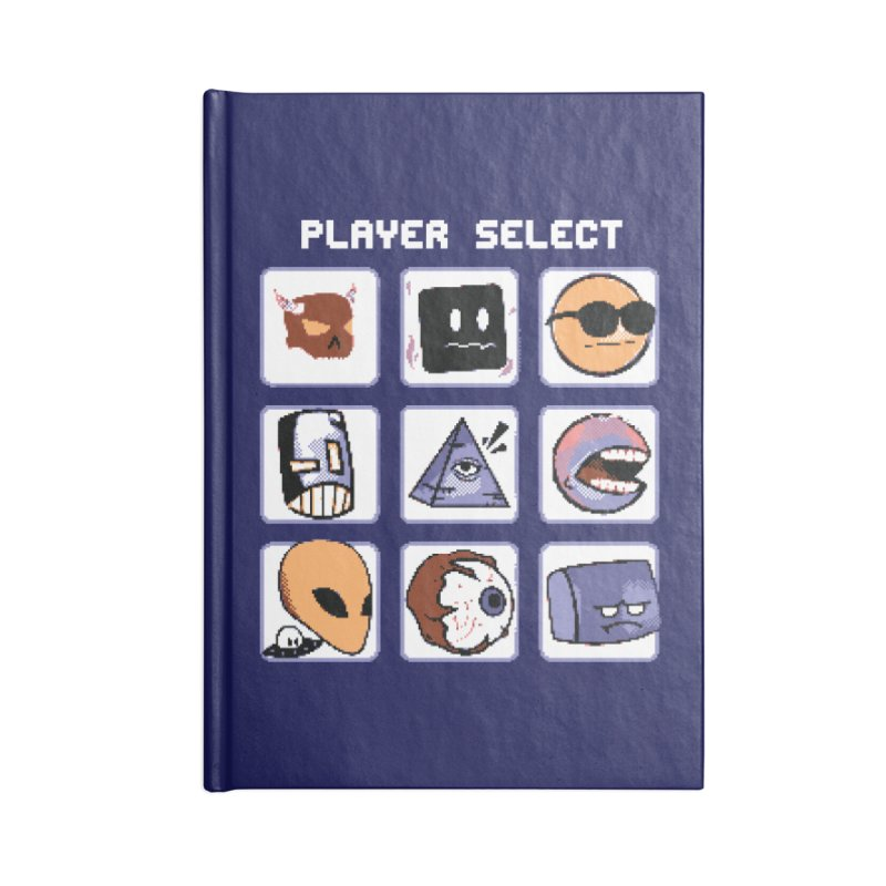 Player Select (Gameboy Color Edition) Accessories Lined Journal Notebook by Viable Psyche