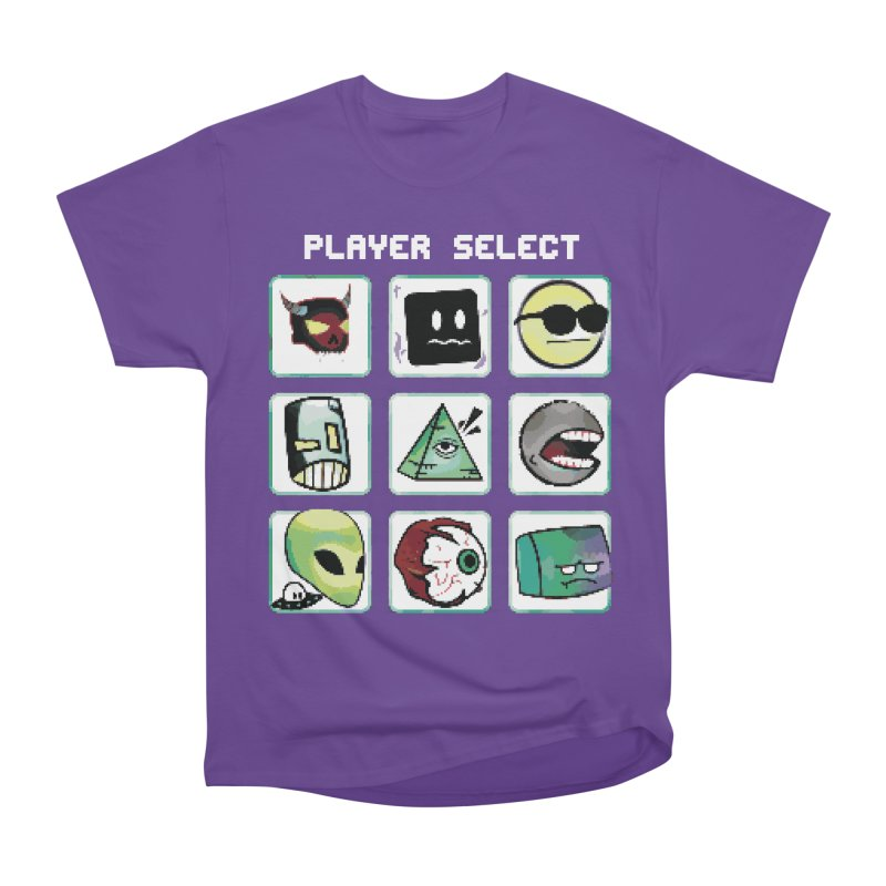Player Select (NES edition) Men's Heavyweight T-Shirt by Viable Psyche