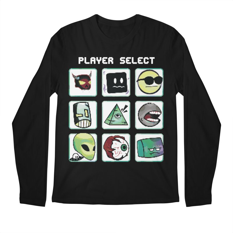 Player Select (NES edition) Men's Longsleeve T-Shirt by Viable Psyche
