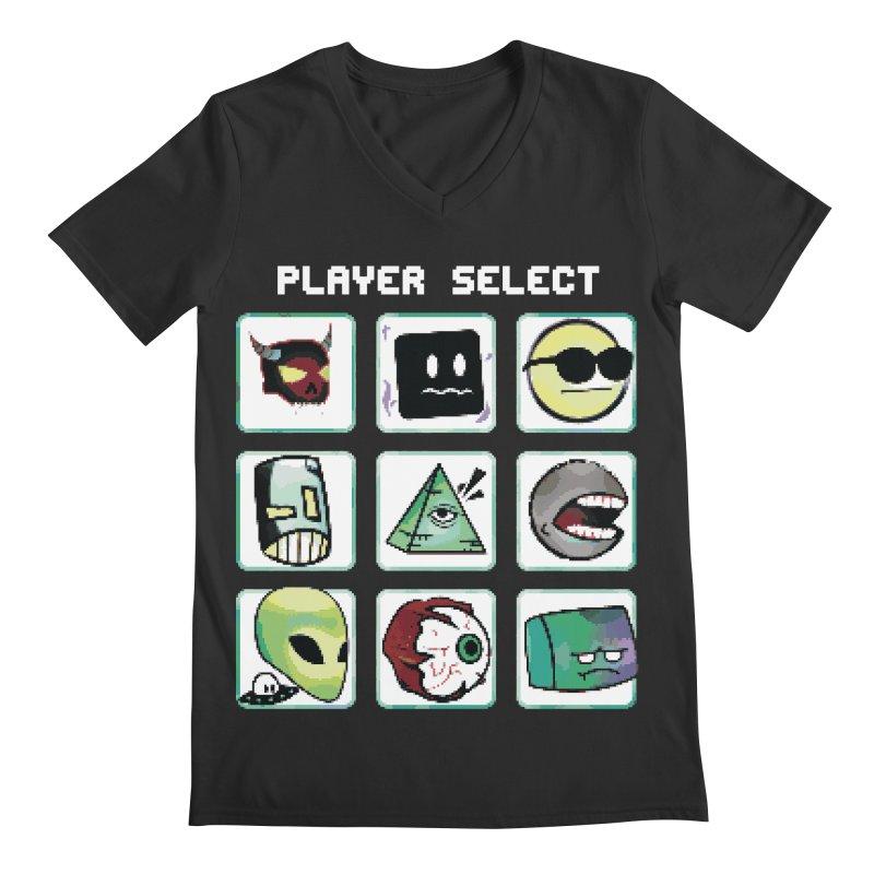 Player Select (NES edition) Men's Regular V-Neck by Viable Psyche
