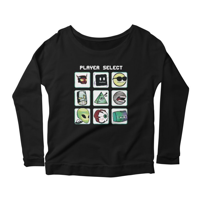 Player Select (NES edition) Women's Scoop Neck Longsleeve T-Shirt by Viable Psyche
