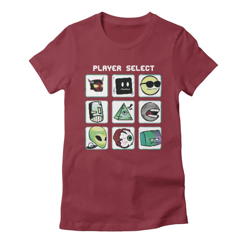 Player Select (NES edition) Women's Fitted T-Shirt by Viable Psyche