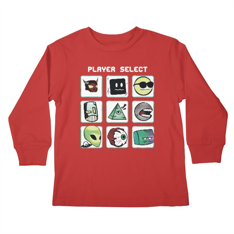 Player Select (NES edition) Kids Longsleeve T-Shirt by Viable Psyche
