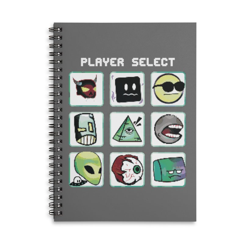 Player Select (NES edition) Accessories Lined Spiral Notebook by Viable Psyche