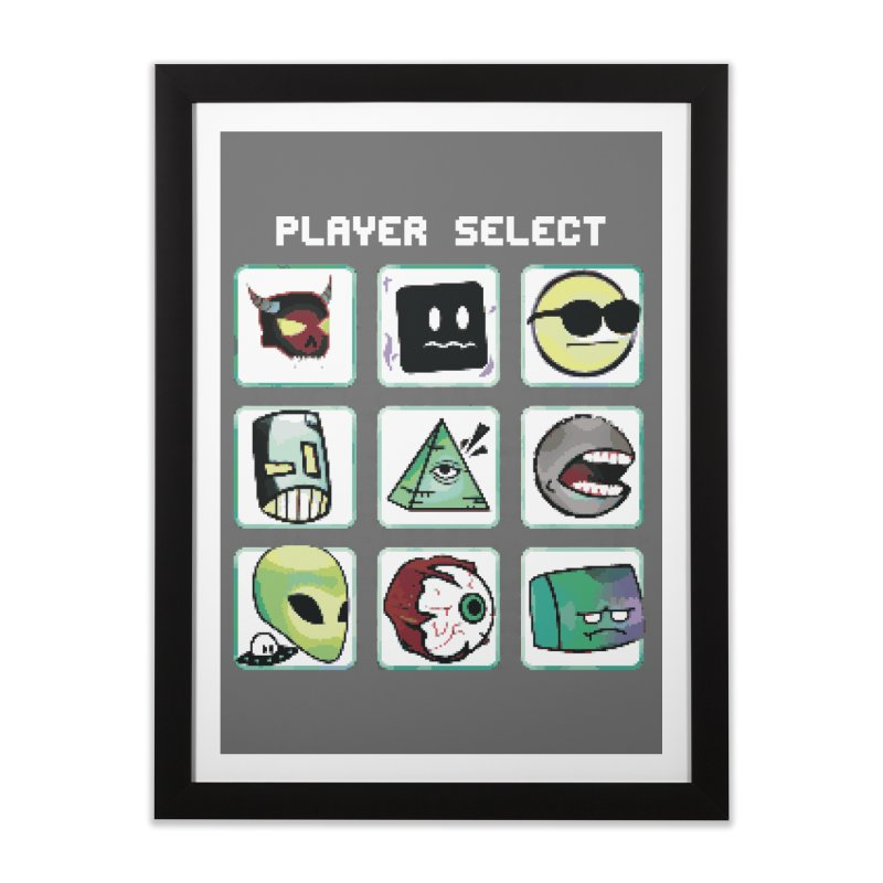 Player Select (NES edition) Home Framed Fine Art Print by Viable Psyche