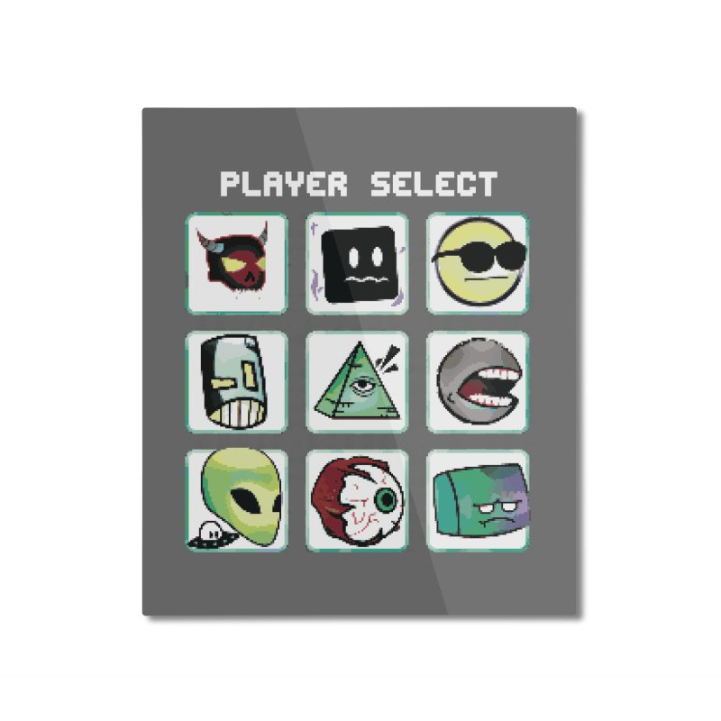 Player Select (NES edition) Home Mounted Aluminum Print by Viable Psyche