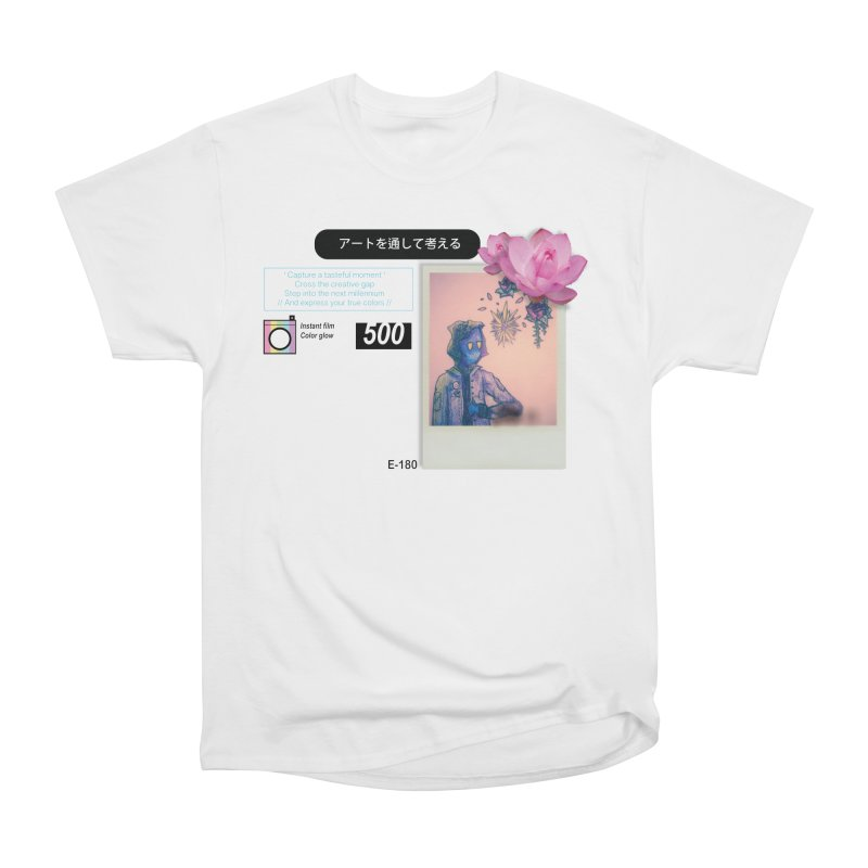 Vintage Bloom Women's Heavyweight Unisex T-Shirt by Viable Psyche