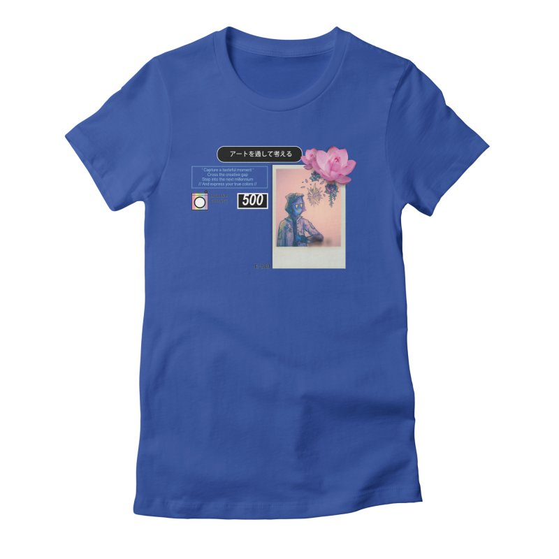 Vintage Bloom Women's Fitted T-Shirt by Viable Psyche