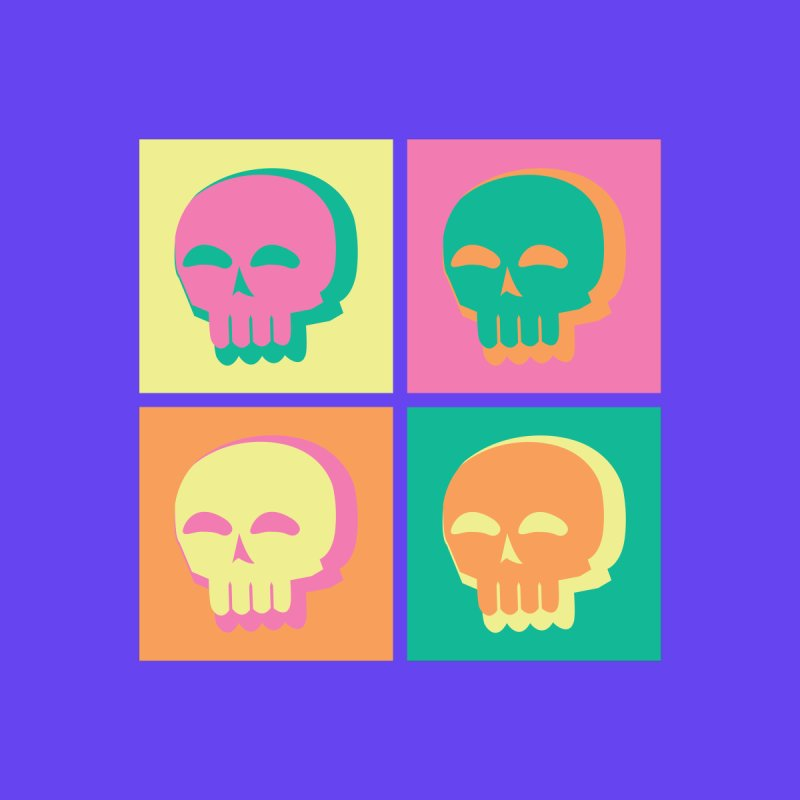 Pop Art Skulls by Viable Psyche