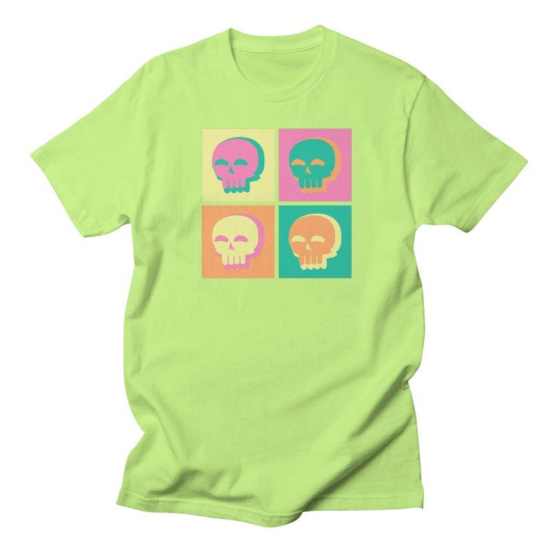 Pop Art Skulls Men's T-Shirt by Viable Psyche