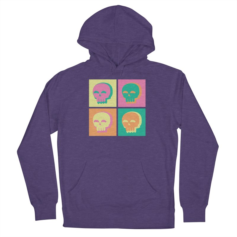 Pop Art Skulls Women's French Terry Pullover Hoody by Viable Psyche