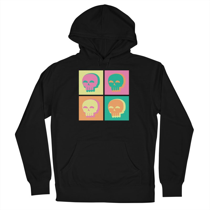 Pop Art Skulls Men's French Terry Pullover Hoody by Viable Psyche