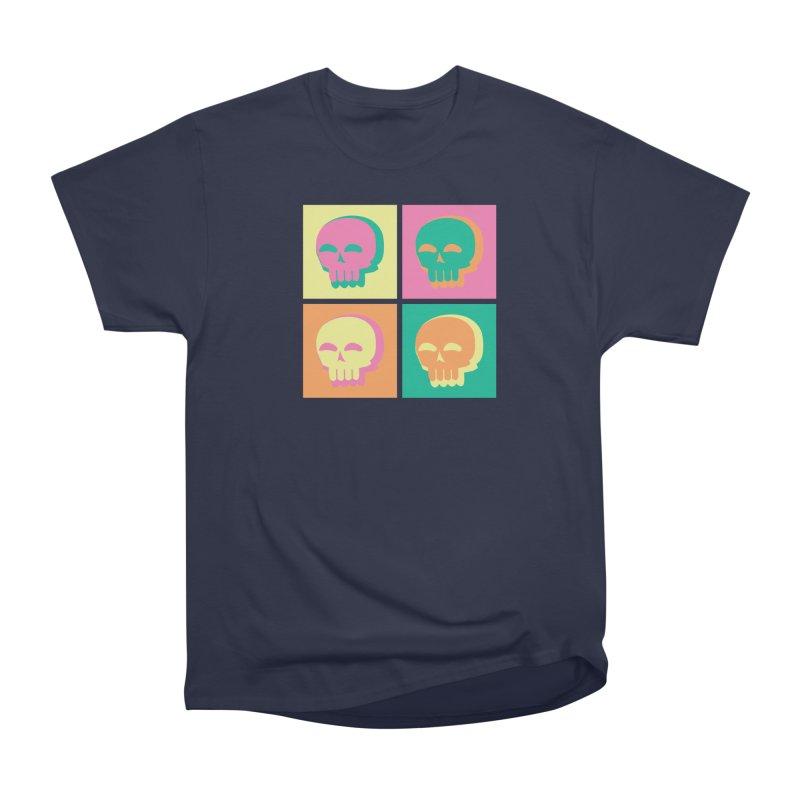 Pop Art Skulls Men's Heavyweight T-Shirt by Viable Psyche