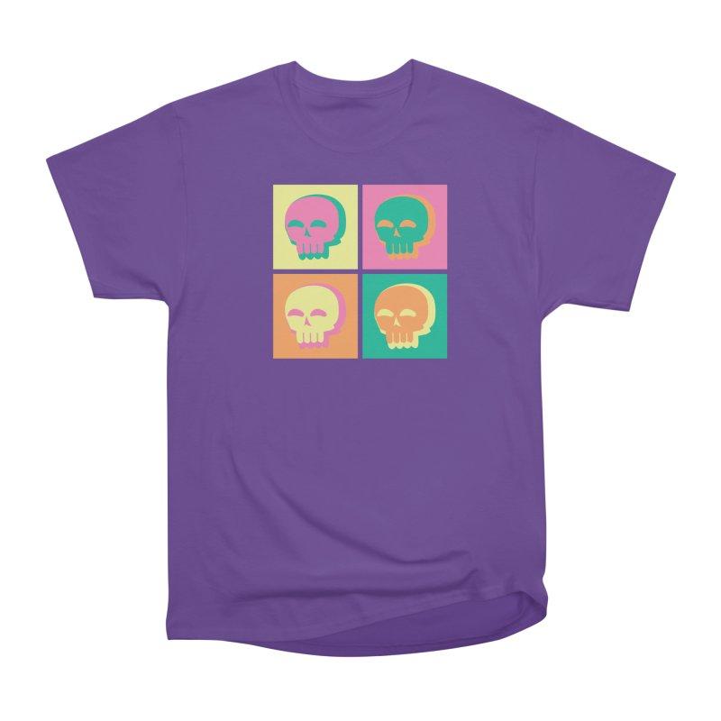 Pop Art Skulls Women's Heavyweight Unisex T-Shirt by Viable Psyche